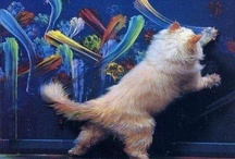 Cat Artistry I / Painted and sketched Cats in art / by Sharon Thompson
