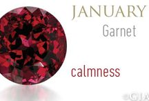 January Birthstone - Garnet / Birthstones and Anniversaries - Garnet is the birthstone for January and the gem for the 2nd anniversary.