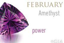 February Birthstone - Amethyst / February birthstone Amethyst  jewelry