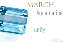March Birthstone - Aquamarine / Aquamarine jewelry pieces