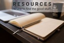 Resources / We'll show you where to find the good stuff