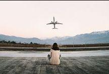 Prendre son envol / Même si je suis une adepte du voyage lent, j'adore prendre l'avion, décoller, être dans un aéroport. Prendre l'avion reste encore toute une aventure!
