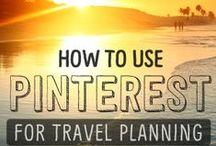 Pinterest pour les nuls / Tableau de conseils pour bien utiliser Pinterest pour la planification de voyage et autres sujets.