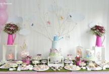 OUR ODE TO SPRING: BEATRIZ'S BIRTHDAY PARTY / We publish now, as ode to Spring that just arrived, this party we have helped accomplish exactly one year ago. It was in the first day of Spring of last year, the day she completed one year old, that Beatriz celebrated her first birthday. The theme of the party joined the date and the celebration was an ode to spring: flowers, butterflies, birds, grass, watering cans, anything that invokes this colorful season of the year! Only now we published this party because it had publishing exclusivity.