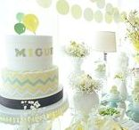 MIGUEL'S BABY SHOWER: IN LEMON LIME TONES, WITH BALLOONS!