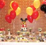 GABRIEL'S BAPTISM: HEY, MICKEY! / Gabriel's baptism had a theme a little different from our usual for that kind of party... Gabriel loves Mickey Mouse and that was chosen theme! Very cheerful but with elegance and many details in white, red, black and yellow. The cake and sweet table was super colorful. The distribution of the guests tables with Gabriel's photos and his favorite characters from Disney was a unique and very charming detail!  http://www.lima-limao.com/2015/12/batizado-do-gabriel-hey-mickey.html#.VqPdLPmLTIU