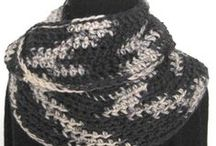 Black White Gray   / My knitted and crocheted accessories can be found at http://www.KnittingGuru.etsy.com. I'm always happy to answer any questions you send me there.