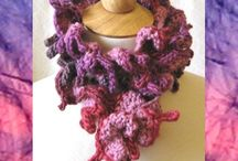 Purple Violet Lavender Rose Pink Accessories / My knitted and crocheted accessories can be found at http://www.KnittingGuru.etsy.com. I'm always happy to answer any questions you send me there.