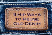 Recyled Denim ideas / Cool ways to recycle old jeans!