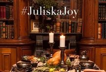 #JuliskaJoy / The holidays mean love, gratitude & gathering with loved ones to celebrate the season of traditions. Share how you use Juliska to celebrate! Tag us & include #JuliskaJoy in your holiday tablescape photos for a chance to win a shopping spree to Juliska.com. The more entries the merrier! (Contest ends January 2015) #juliskajoy #lamouretsavoirvivre