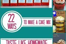 Recipes: Cake (Boxed Mix) and Baking Info / Info and tips for cake baking, and uses for boxed cake mix. General Baking Tips .