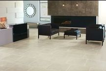 Crossville Oceanaire Porcelain Tile Collection / This newly launched collection is designed to capture the appearance of sea-and sand-swept natural stone, with sea-inspired striations in five flowing shades.  / by Crossville Tile