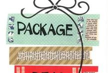 PACKAGE DEAL / A library display that pairs two items that go together because of subject, setting, or character