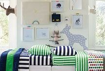 Boy's Bedroom / How I want to decorate the boy's shared room. / by Holly Logue