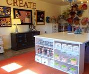 Favorite Places and spaces / Craft spaces, craft rooms, organization, scrapbooking,