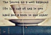 Tea + Books = Heaven / Because tea and books are the perfect combination!