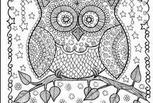 Color me happy! / Coloring pages for the young or young at heart.