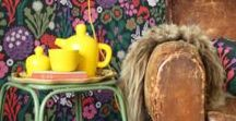 Flowery & vintage / Flowery & vintage, Boho, Gypsy interior full of collections, colors and patterns