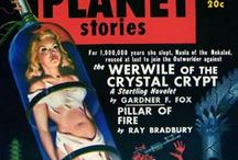 Covers - Planet Stories/Planet Comics / Americanpulpscience fiction magazine, published byFiction House between 1939 and 1955. It featured interplanetary adventures, both in space and on other planets. Malcolm Reiss was editor or editor-in-chief for all of its 71 issues.Planet Storieswas launched at the same time asPlanet Comics, both featured cover-art tropes of scantily-clad damsels in some sort of distress.