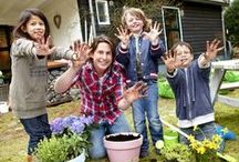 Tuinieren met kids // Gardening with children / Ideeën om te doen met kinderen in de tuin // ideas to do with children outside, in the garden.