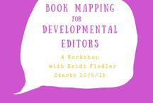 Book Mapping Like an Editor / A book map is an overview of a book, scene by scene and chapter by chapter. It's the best way for writers to get the distance they need to see a book the way a reader does.    Add your own book maps to the collection by commenting.  I'll send you an invite and you can share your book map.    Write. Edit. Inspire.