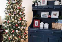 Holidays- Christmas / Farmhouse and whimsical Christmas decor! Stockings, Christmas trees, hot chocolate & Christmas cookies!