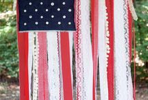 Holidays- 4th of July / Red white and blue! Decor and crafts to celebrate USA on the 4th of July!