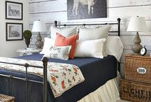 Home Decor- Bedrooms / Inspiration and ideas for cozy and inviting bedrooms. Modern farmhouse with a touch of rustic bedrooms. Master bedrooms and guest bedrooms with Fixer upper style.
