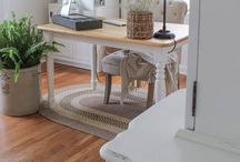 Home Decor- Office / Farmhouse home office spaces. Rustic desks, craft spaces, and office nooks.