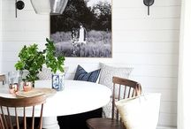 Home Decor- Dining Rooms / Beautiful rustic dining rooms! Modern farmhouse eating area inspiration and ideas! From kitchen tables to bar carts.