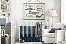 Home Decor- Baby Boy Nursery / Baby boy nursery inspiration and ideas! Navy and nautical boy nursery.