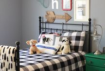 Home Decor- Boy Bedrooms / Blue, brave and cozy bedrooms for little boys! Inspiration and ideas for boy bedrooms!