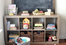 Home Decor- Play Rooms / Farmhouse playroom inspiration! A place to encourage fun and imaginative play for your kids including toy organization!