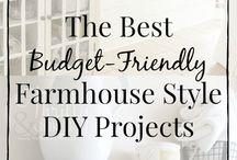 Farmhouse Decor / Fixer Upper look for less. Budget friendly farmhouse decor.