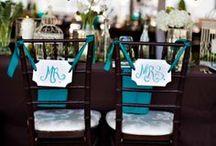 Teal Weddings Ideas / Teal Weddings / by A Chair Affair, Inc.