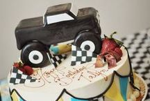 Monster Truck Party / Monster truck birthday party ideas including party games, party decorations, favors, monster truck food and more!