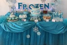 Frozen Slumber Party / Ideas for a frozen-inspired slumber party for kids. Includes menu ideas, crafts, decorating ideas and more!