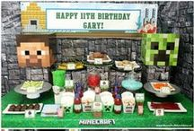 Minecraft Party / Minecraft Party Ideas including Minecraft Games, Minecraft Party Favors, Minecraft Party Food, Minecraft Cake Ideas and more!