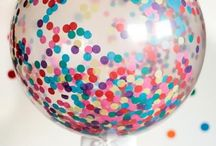 Confetti Party / A birthday party filled with balloons and sprinkles! Delicious sprinkle desserts, balloon decorations and games with balloons!