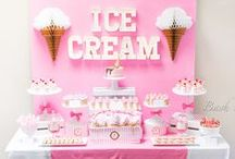Ice Cream Party / Ice Cream Party ideas including sweet treat ideas, ice cream party decorating ideas, party favors and more!