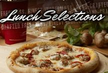 Lunch Selections!! / by Flippers Pizzeria