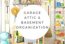 Garage, Basement, Attic and Outdoor Organizing / The basement, attic and garage are BIG storage areas.  Here's how to organize them.