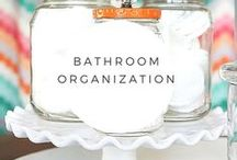 Bathroom Organization / Organizing the bathroom is challenging.  It's small, cramped and you need a lot of stuff in there!  Here's how to make it all work.