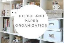 Paper and Office Organization / From a corner of a kitchen to a corner office, these paper and office organization tips will help you meed deadlines and be more productive.