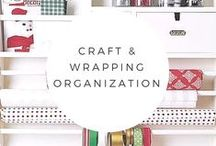Craft and Wrapping Organization / Craft and wrapping supplies are difficult things to get in order.  Here are some ideas.  If you have a whole room or just a closet, we can help you get them organized.
