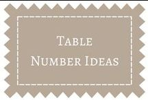 Table Number Ideas / by DIY Weddings® Magazine
