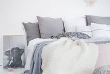 B E D R O O M / Bedroom decor and inspiration. Bedding, wardrobes, rugs, textures + walls.
