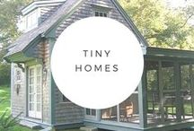Tiny Homes / I love tiny spaces and how creative they make their owners be with organizing.  We can all be inspired by tiny homes and their simplicity.