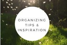 Organizing tips and inspiration / Organizing can be beautiful and these graphics will help you find your inspiration.