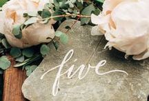 Wedding Numbers / table numbers for stylish wedding celebrations
